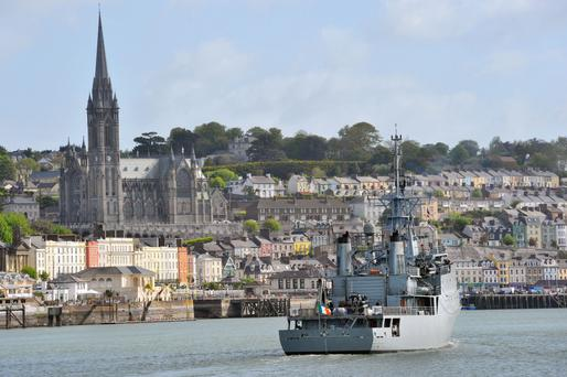 An Irish Naval Service in Cobh harbour