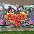A new Repeal the 8th Amendment mural was painted on a graffiti wall in Arklow. Photo: Facebook
