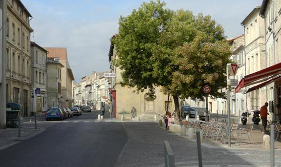 Rue des Infirmières in southern France where the young woman was attacked