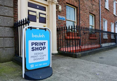 The business premises of Beulah Print on Fair Street in Drogheda. Photo: Drogheda