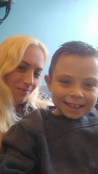 Helen Lynch with her son Charlie (8)