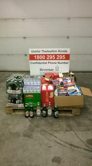 The items seized by revenue at Dublin Port