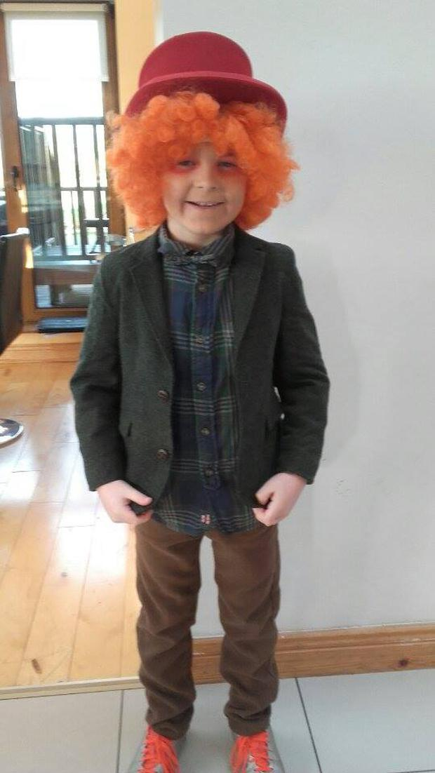 Davy Hickey (8) as The Mad Hatter from Alice in Wonderland