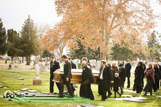 'To the solemn graves, near a lonely cemetery', goes the line by the poet Baudelaire, 'my heart like a muffled drum is beating funeral marches' (Stock picture)