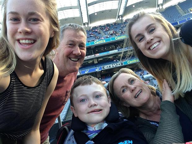 The McGrath family at the Bruce Springsteen concert