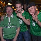 Kevin Phelan, Ryan McDermott, and Marino and Anthony Walsh, in Temple Bar Photo: Arthur    Carron