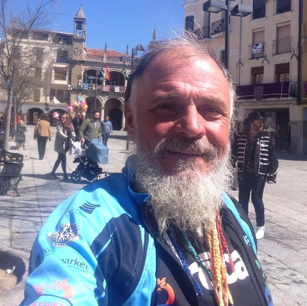 Dermot Higgins (55) has recently cycled around the world