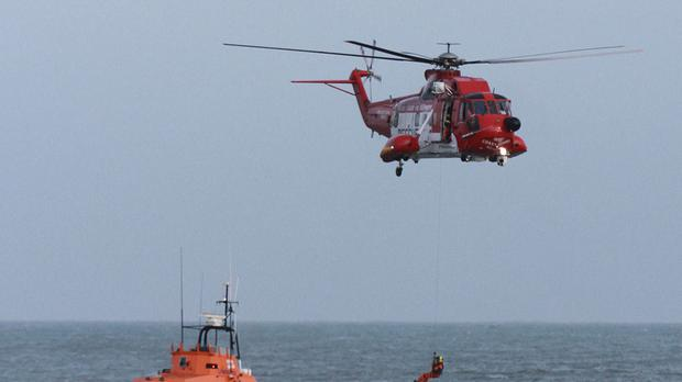 The Irish Coast Guard pictured during a training exercise (Stock photo)