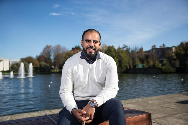 Moving on: Ibrahim Halawa pictured outside UCD, where he is now a student. Picture by Mark Condren
