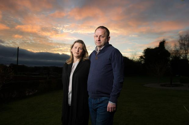 Now retired sergeant Maurice McCabe and his wife Lorraine. Picture: Barry Cronin