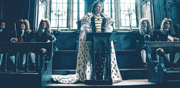 Ruling: Olivia Colman in 'The Favourite', which will be released in Ireland in January