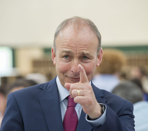 Fianna Fail's Micheal Martin at the count in Cork's Nemo Rangers Sports Centre. Photo: Daragh Mc Sweeney/Provision