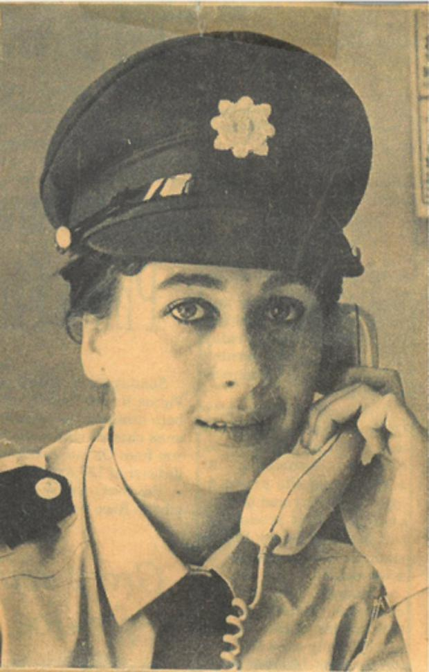 Majella Moynihan as a garda