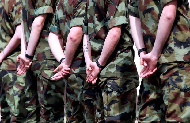 Members of the Defence Forces, who undertake security duties that can last for more than 24 hours, are paid flat-rated allowances, a conference heard yesterday. Stock photo: Frank McGrath