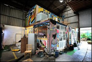 The house at the Grangegorman squat. Photo: Steve Humphreys