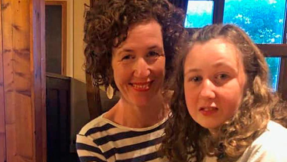 Nora Quoirin with her mother Meabh