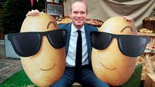 Agriculture Minister SimonCoveney launched a new €1m potato marketing campaign for An Bord Bia