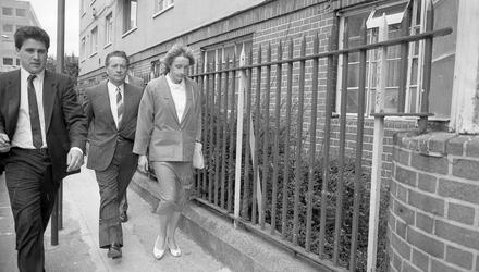 Richard Flynn (centre) with his daughter Maureen Parkes, following whose wedding Father Molloy died. Picture by Brian Farrell