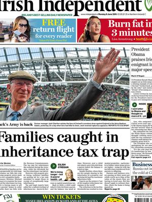 How the Irish Independent reported the story
