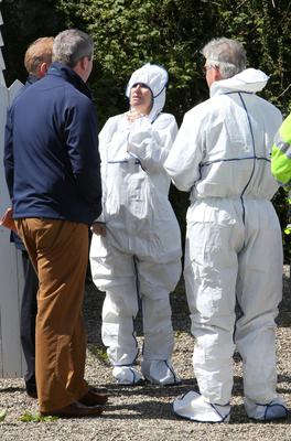 State Pathologist Dr Marie Cassidy at the scene