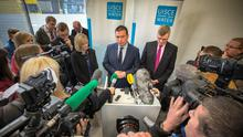 Environment Minister Alan Kelly and Irish Water chief John Tierney