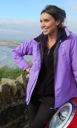 Christine Bleakley at Rossnowlagh, Co Donegal