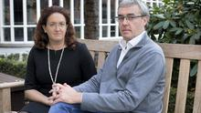 Susanna and Christopher Cawley, sister and brother of murdered woman Celine Cawley