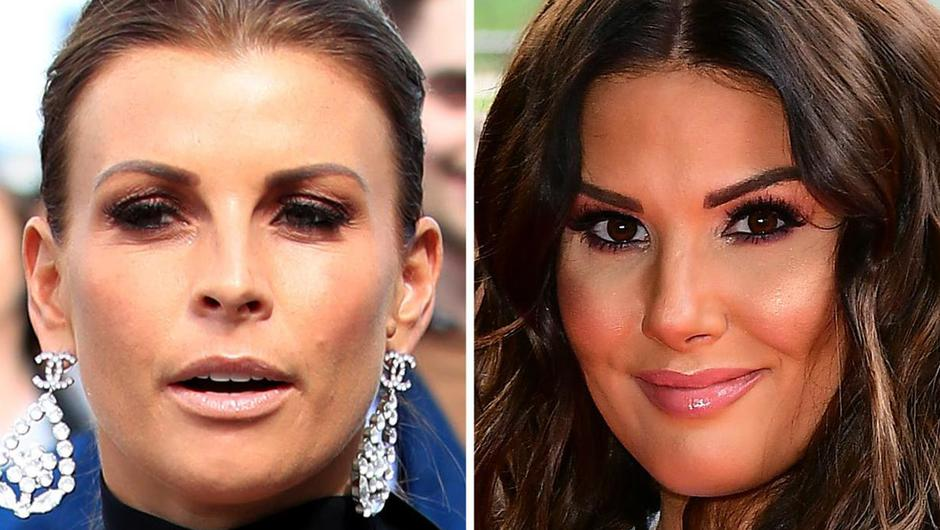 Coleen Rooney (left) and Rebekah Vardy. Photo by: Peter Byrne, Ian West/PA