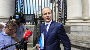 Fianna Fail leader Micheal Martin. Picture by Gerry Mooney