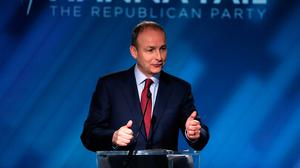 Ambition: 'I didn't go into politics to be a backbencher for life,' says Micheál Martin. 'And in that respect, I intend going as far as I possibly can in politics'
