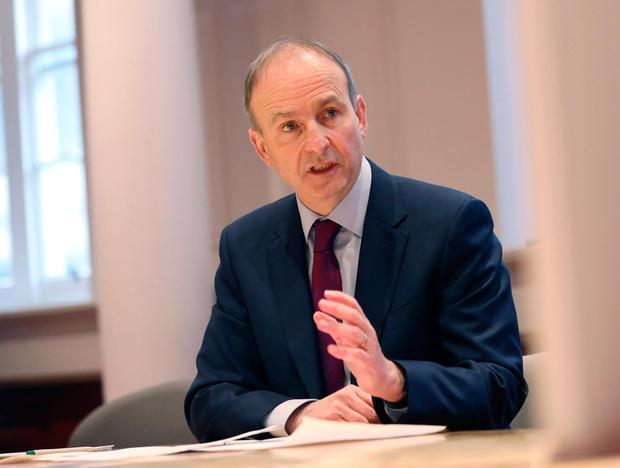 Taioseach Micheál Martin is facing a potential                   mutiny by some members of the Fianna Fáil                   parliamentary party against his leadership. Picture by                   Julien Behal Photography/PA