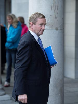 BURNING DESIRE: Enda Kenny 'wants to be the first Fine Gael Taoiseach ever to be re-elected as Taoiseach. That's history'. Photo: El Keegan