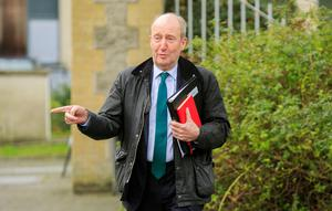 Shane Ross said judicial impeachment proceedings were               designed for 'much more serious               offences'. Photo: Gareth Chaney/Collins