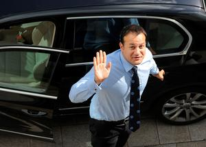 Making a mark: Leo Varadkar in Dun Laoghaire during the early days of his tenure as Minister for Transport