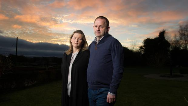 Sgt Maurice McCabe with his wife Lorraine. Photo: Barry Cronin
