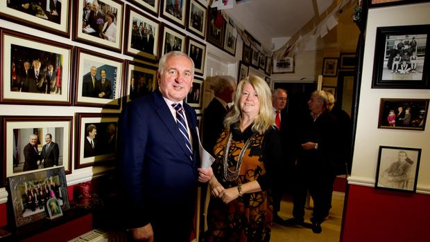 POWER BASE: Former Taoiseach Bertie Ahern with Miriam Ahern in his constituency office, St Luke's, in 2010. The Drumcondra house is being sold for €774,000