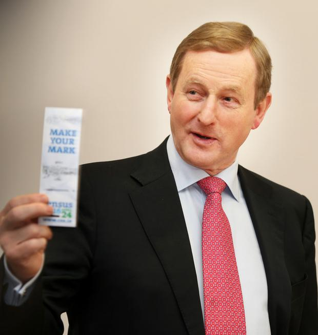 Enda Kenny speaking at the launch of Census 2016. Photo: Tom Burke