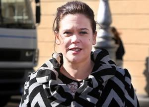 Mary Lou McDonald at Leinster House yesterday. Photo: Tom Burke
