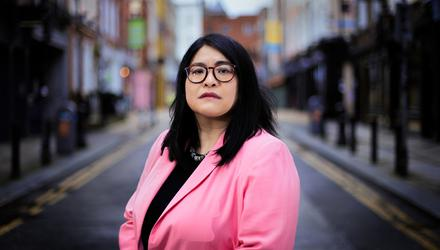 Dublin Lord Mayor Hazel Chu pictured in the centre of Dublin City. Photograph by Gerry Mooney