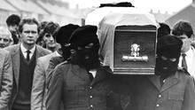 Martin McGuinness at an IRA funeral