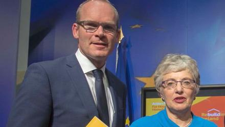 Foreign Affairs Minister Simon Coveney and Katherine Zappone