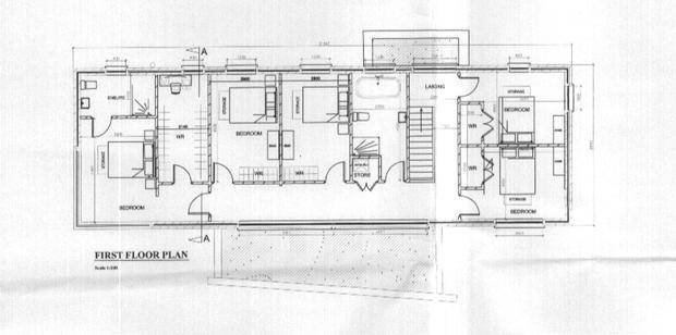 The first floor plan for Pearse                   Doherty's new house