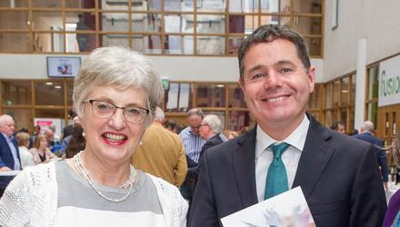 Katherine Zappone with Paschal Donohoe