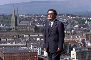 THE TOWN HE LOVED SO WELL: John Hume pictured in Derry