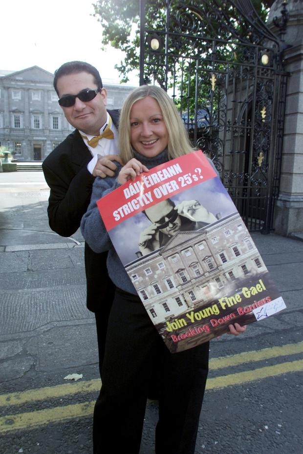 Leo Varadkar with friend Lucinda Creighton while members of Young Fine Gael. Photo: Tom Burke