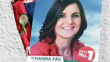 For her poster, Catherine Ardagh told her hairdresser that she didn't 'want to look like Hitler'. Picture: Ronan Lang