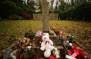 The infants graveyard at Sean Ross Abbey in Roscrea, Tipperary, which was mother and baby home operated by the Sisters of the Sacred Hearts of Jesus and Mary from 1930 to 1970. Photo: Niall Carson/PA Wire