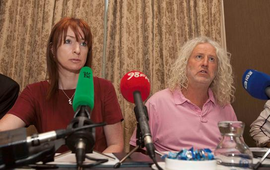 TDs Clare Daly and Mick Wallace hold a press briefing on the Garda amendment bill