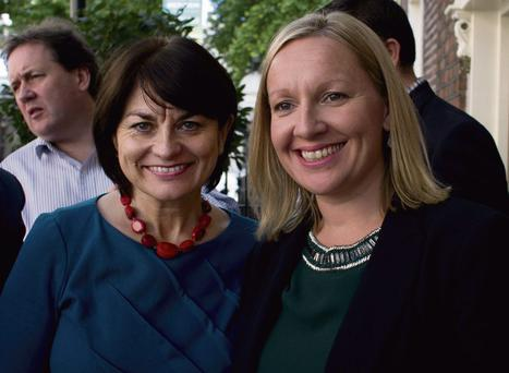 Fidelma Healy Eames and Lucinda Creighton at the inaugural Reform Alliance meeting. Photo: David Conachy