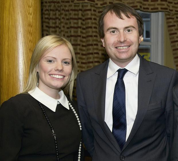 Sarah Comiskey with her partner Sean Conlan TD. Ms Comiskey is a parliamentary assistant to Mr Conlan.